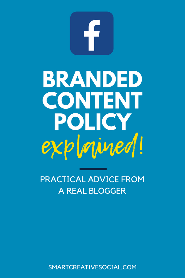 Facebook Branded Content Policy pin graphic