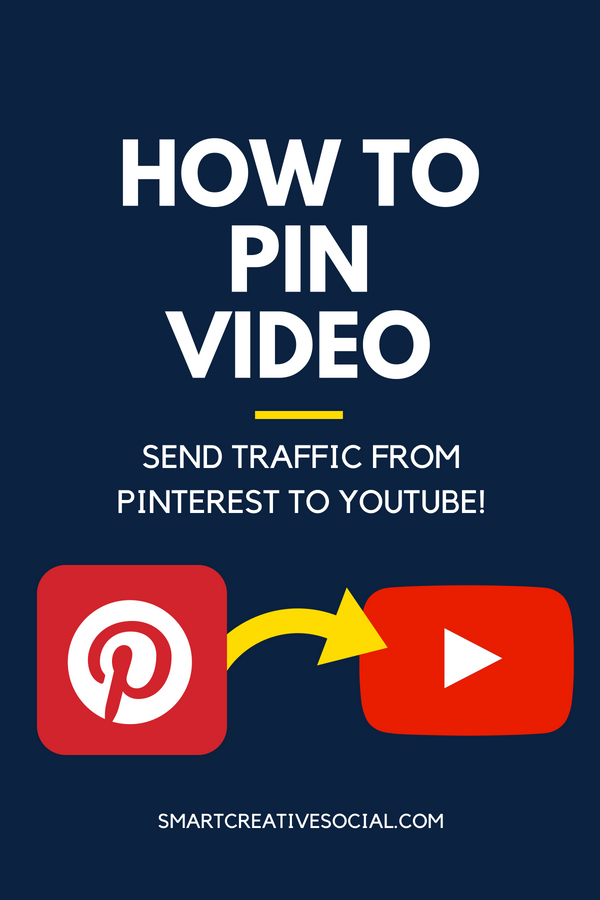 long pin graphic for how to pin video to Pinterest
