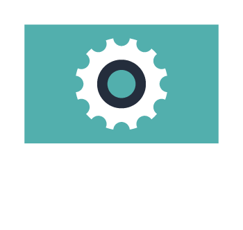 Computer Icon with Gear in Center