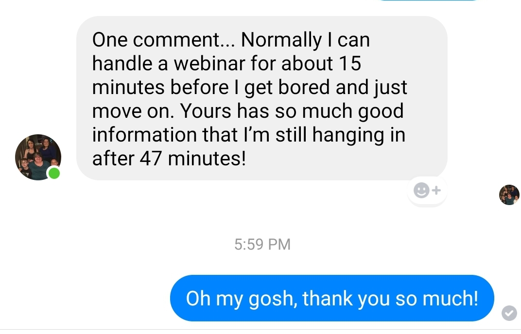 Screenshot Comment about Masterclass